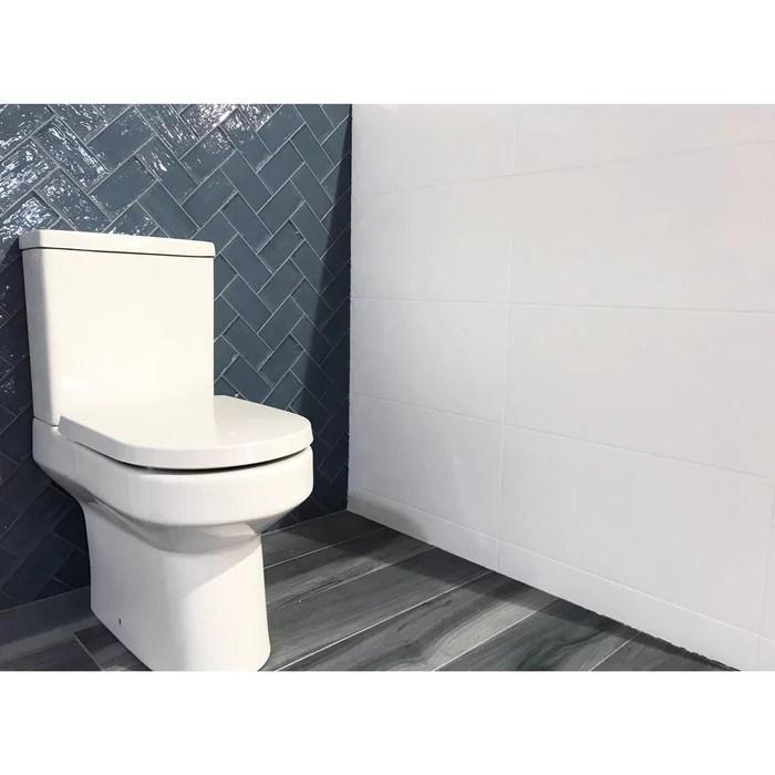 30x60cm mizzle white satin wall tile bct57338