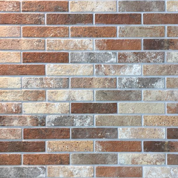 6x25cm london brick multicolour tile