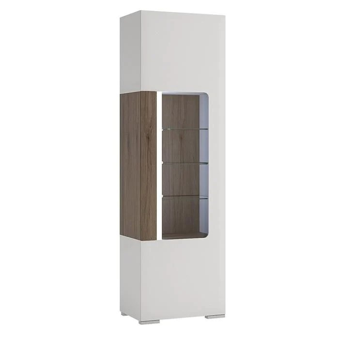 furniture to go toronto tall narrow display cabinet with led lighting 4200244