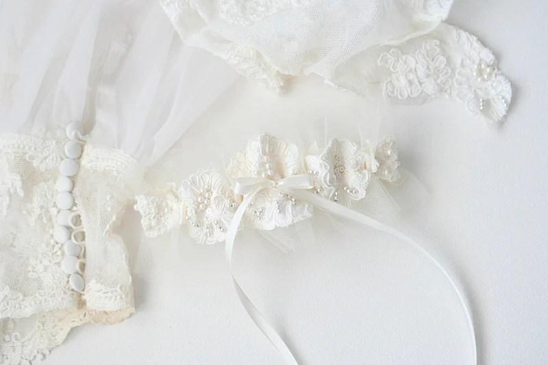 Custom Bridal Garter Mother's Wedding Dress Sleeves
