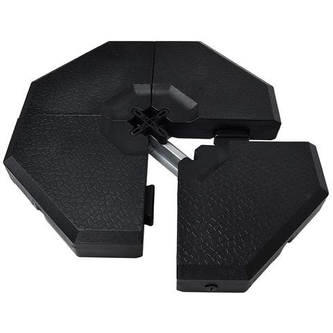 premium cantilever offset patio umbrella weight base plate set