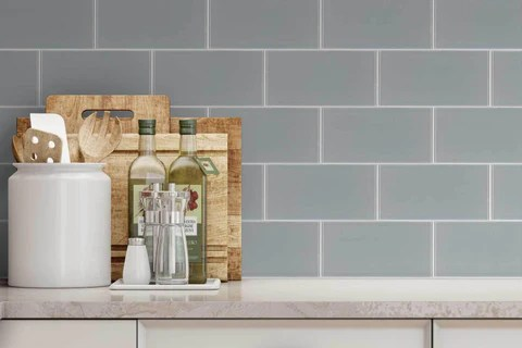 brick gray glossy glass 4x8 subway tile
