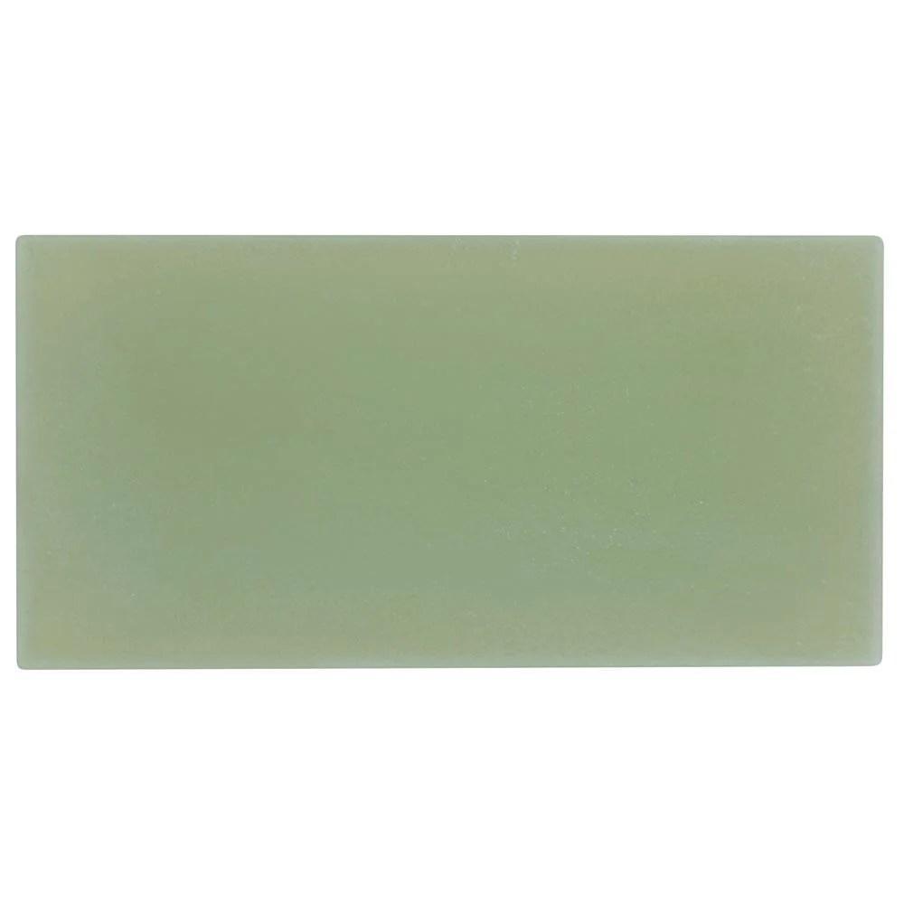 mto0416 classic 4x8 large brick subway green matte glass tile