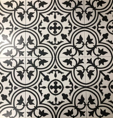 white ceramic arabesque mosaic tile