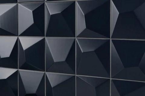 3d matte navy blue ceramic tile