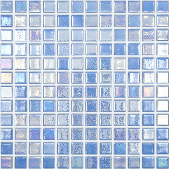 mtod0057 classic 1x1 stacked squares iridescent sky blue glossy glass mosaic tile