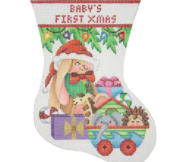 Bb  Babys First Christmas Mini Stocking Bunny