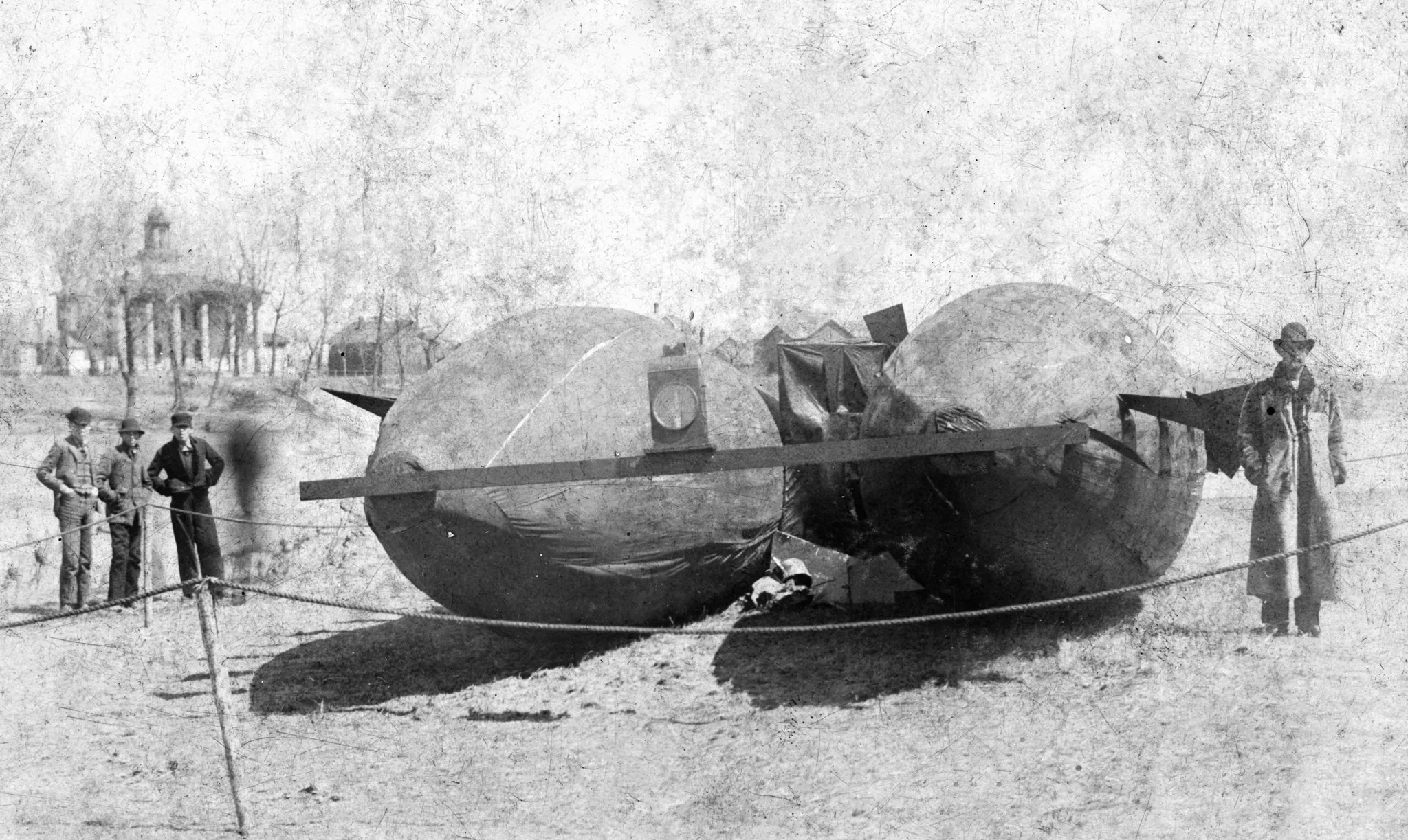 April 16 1897 Quot Mystery Airship Quot Lands In Waterloo Pediment