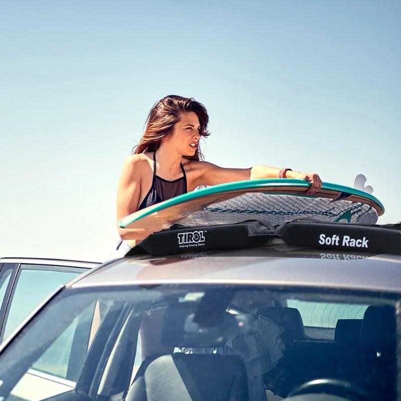 racks universal soft car roof rack bar pad kayak canoe sup carrier loaf style 2pcs usa exterior