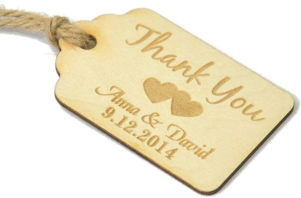 ENGRAVED WOODEN VAVOR TAGS