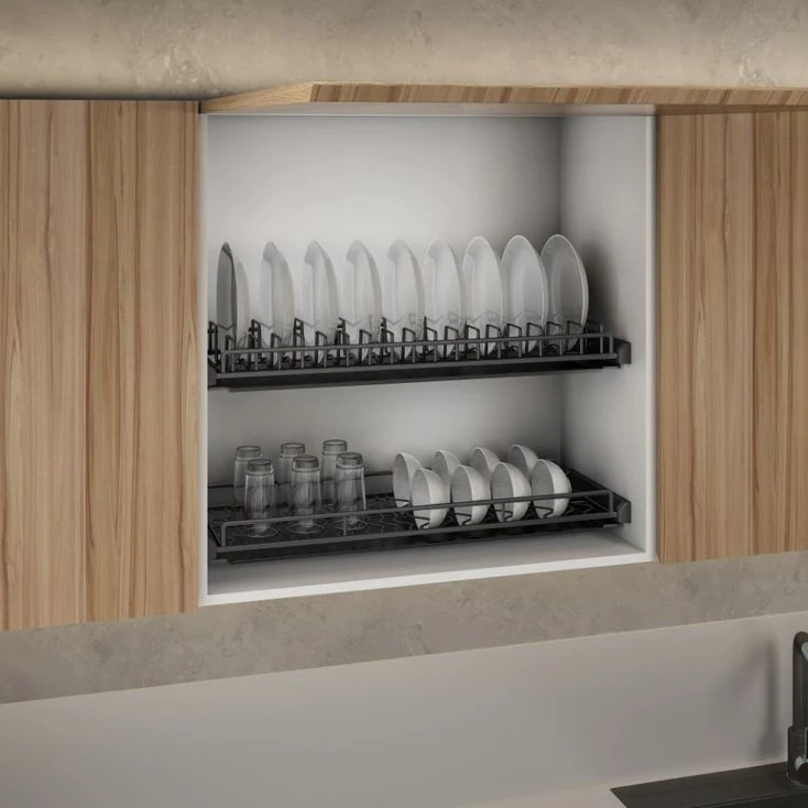 excel progettista nero black series stainless steel grade 316 dish rack