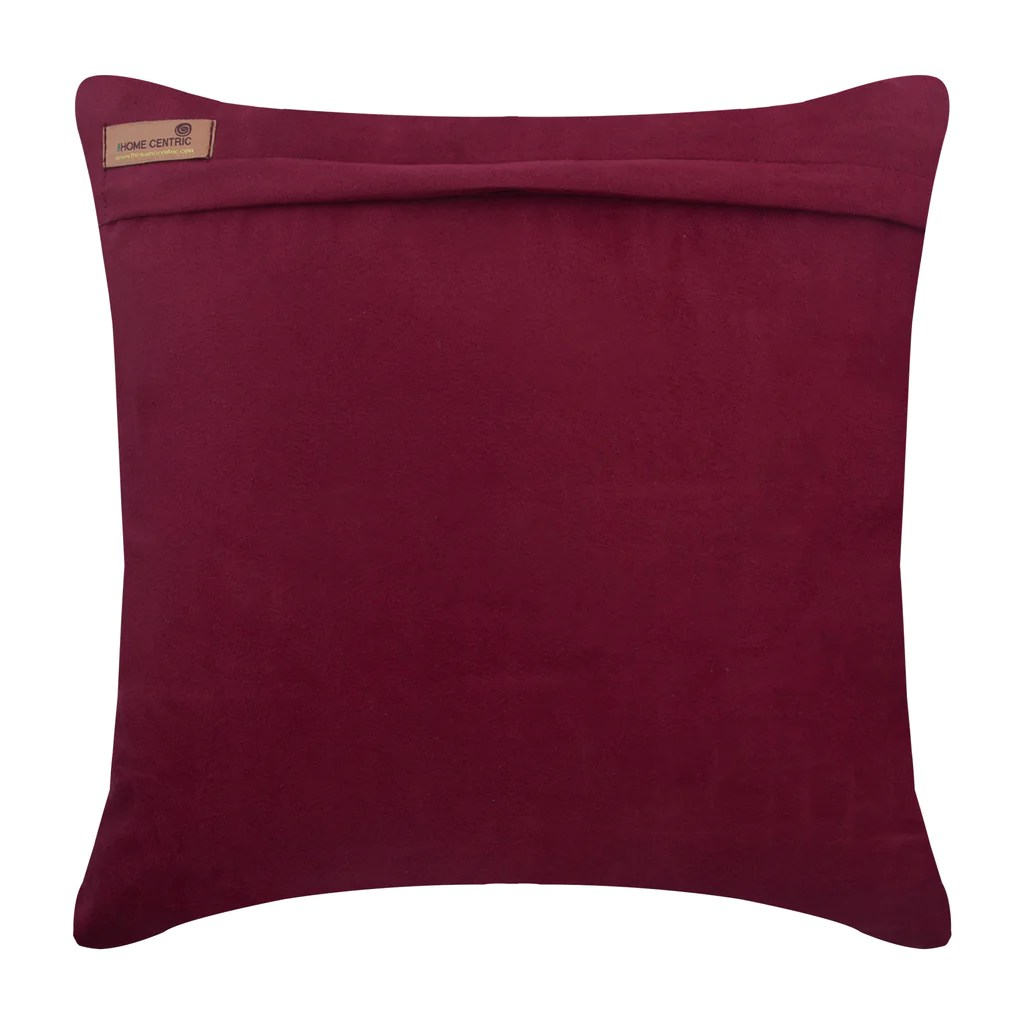 https www thehomecentric com products deep burgundy love tune throw pillow cover