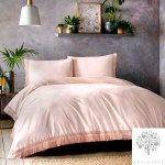 Tasha 100 Cotton Duvet Cover Set In Pink By Appletree Signature Appletree Living