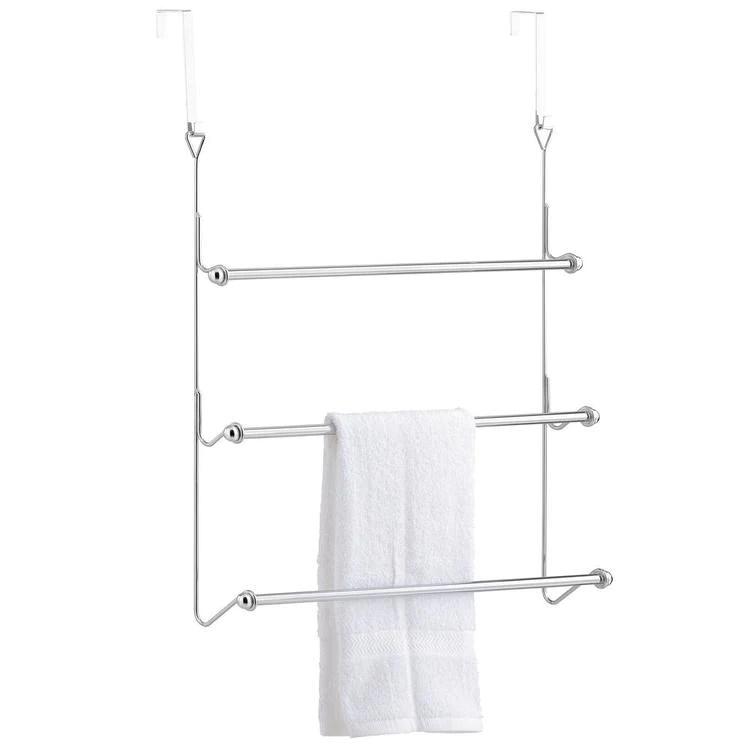 door hanging chrome towel rack