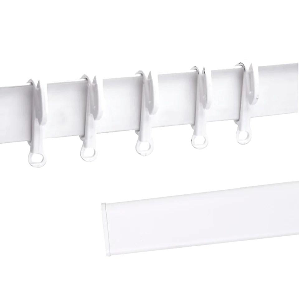 swish elegance plastic track curtain glider rail white 2 70m