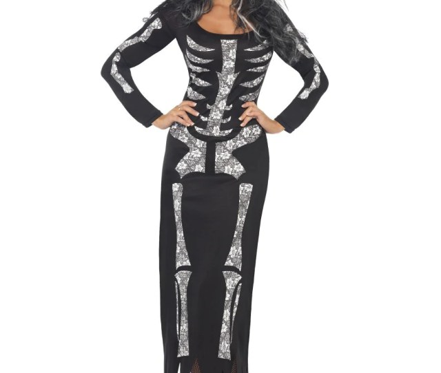 Skeleton Costume With Tube Dress