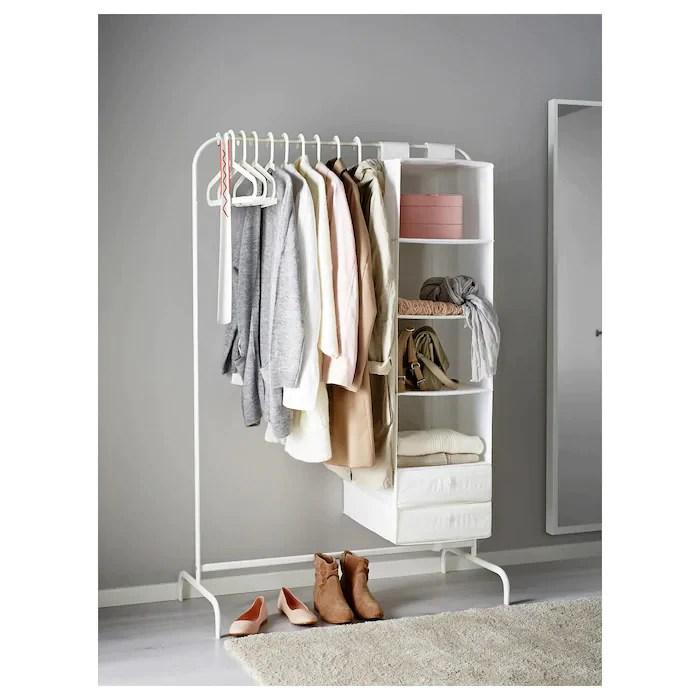 ikea mulig clothes rack white 99x152 cm