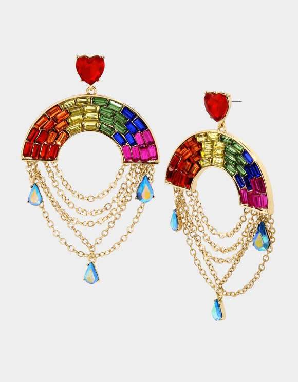 RAINBOW RETRO SWAG EARRINGS RAINBOW MULTI