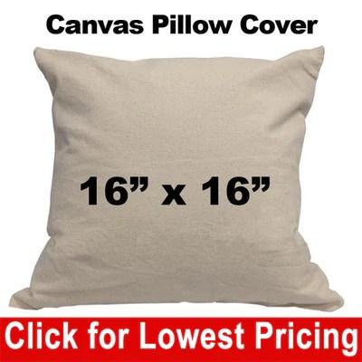 oz cotton canvas throw pillow cover