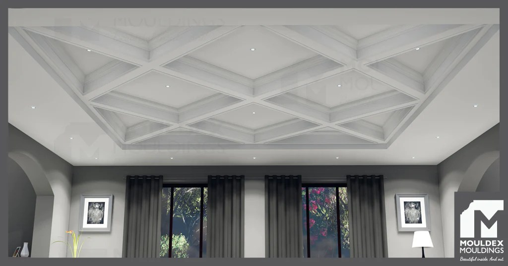 coffered waffle ceilings design ideas