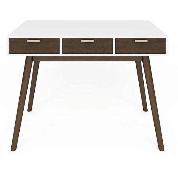Elle Décor Outlet Stara Mid-Century Modern Desk, White ...