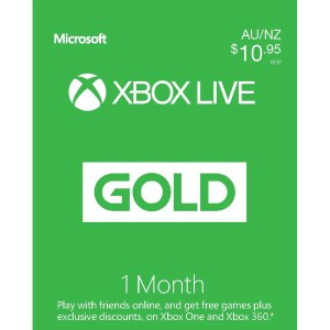 xbox live gold 1 month subscription digital download jb hi fi