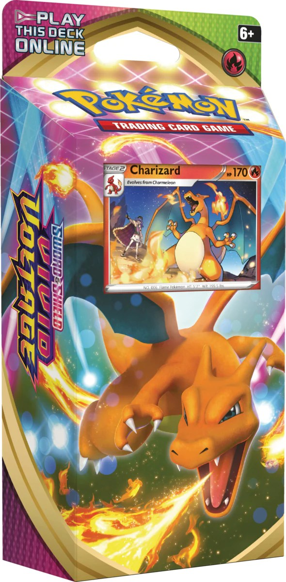 Pokémon TCG: Sword & Shield—Vivid Voltage Charizard Theme Deck (Preorder) | Gamers Grove