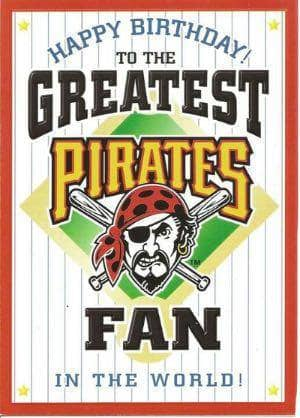 Pittsburgh Pirates Happy Birthday Card Tseshop