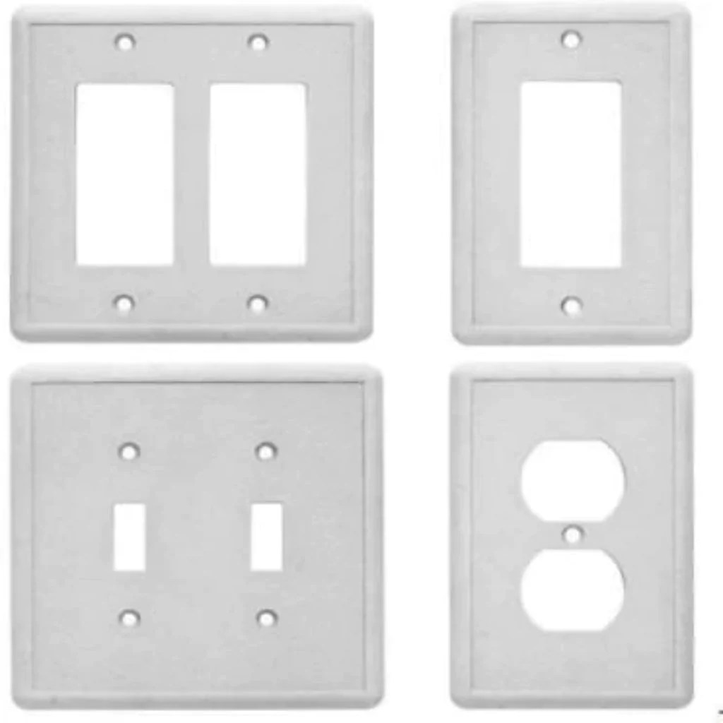hampton bay gray decorator wall plate stone grey finish 2 toggle outlet cover damaged box