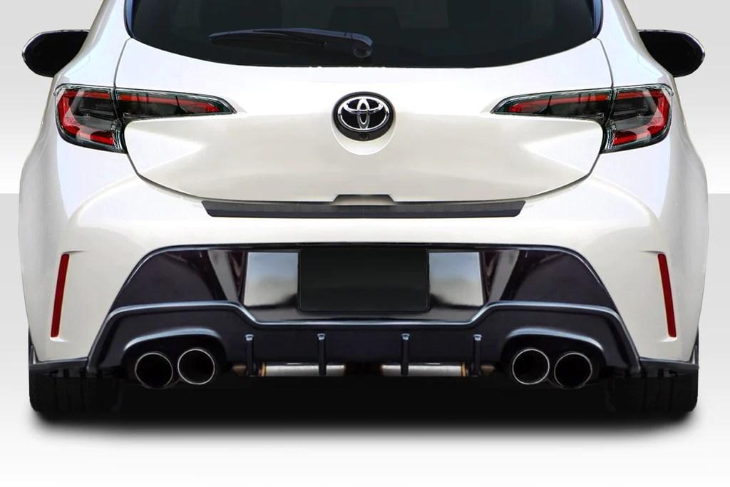 fits 2019 2020 toyota corolla hatchback duraflex a spec rear diffuser 3 piece 115774