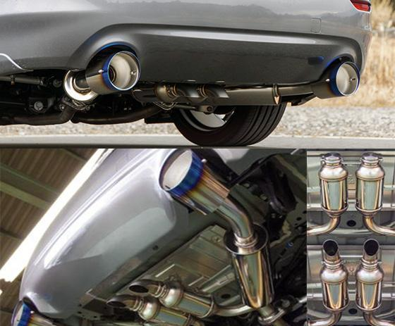 hks q50 vq37 dual hi power titanium tip catback exhaust