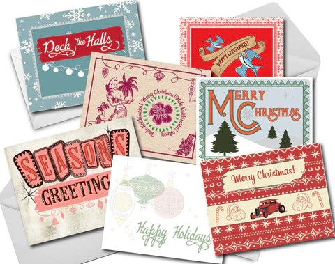 grease and grace, holiday cards, christmas cards