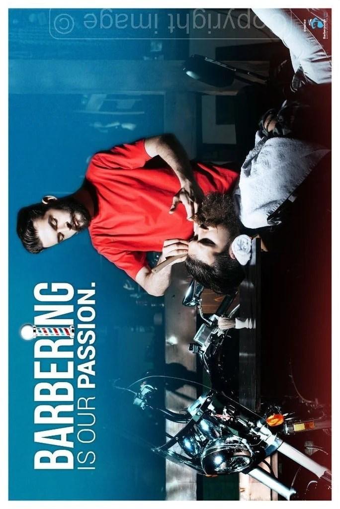 modern barber poster for barbershop