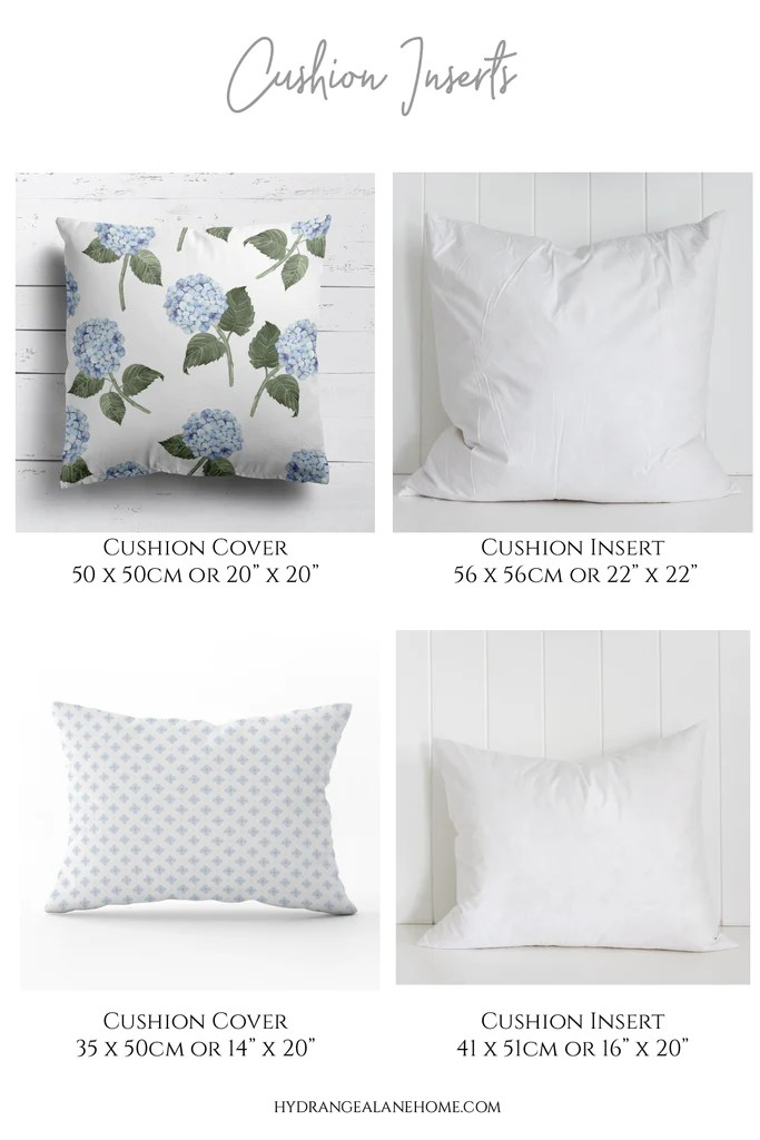 how to choose the right cushion insert