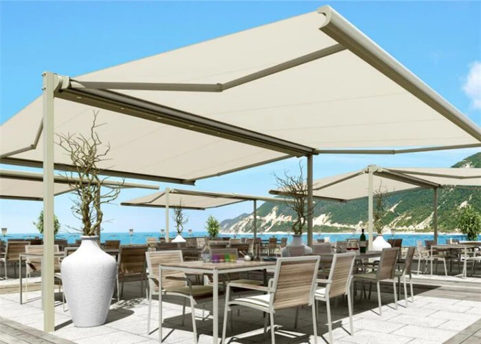 ds8200 hot sale auto double sided free standing retractable aluminum awnings