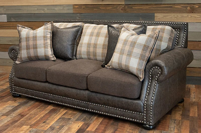 hamilton sofa grey trend leather and fabric combo