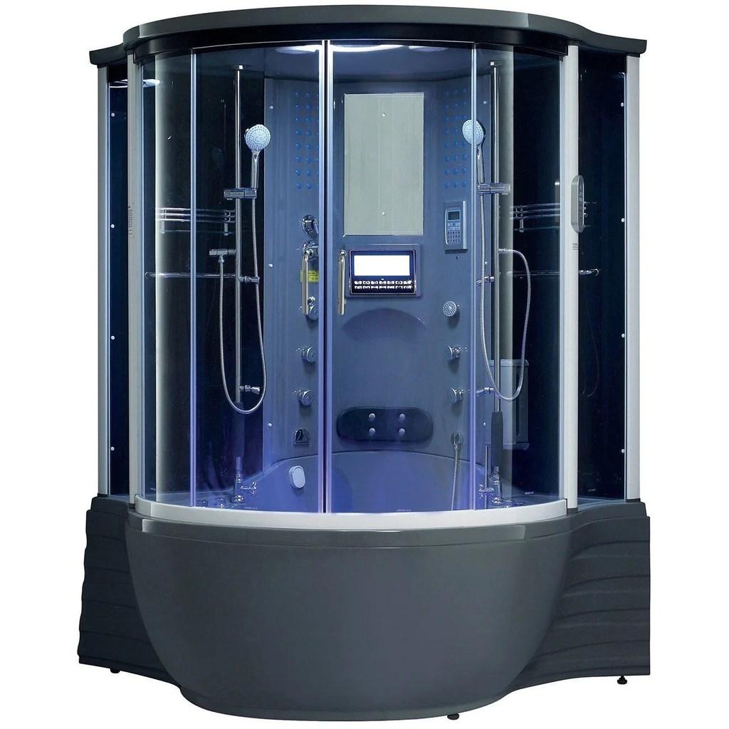 Maya Bath Florence Steam Shower Whirlpool Tub Combination