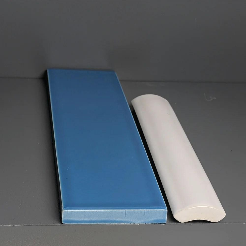 kiln ceramic quarter round trim tile 105 colors