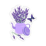Purple Lavender Decal Butterfly Pot Flowers Die Cut Stickers Laptop V Starcove Fashion
