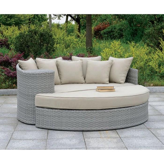 calio round patio sofa ottoman cm os1844gy