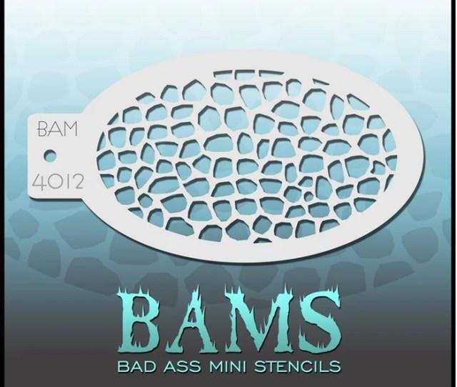 Bad Ass Mini 4012 Face Painting Stencil Pebbles Scales Jest Paint Store