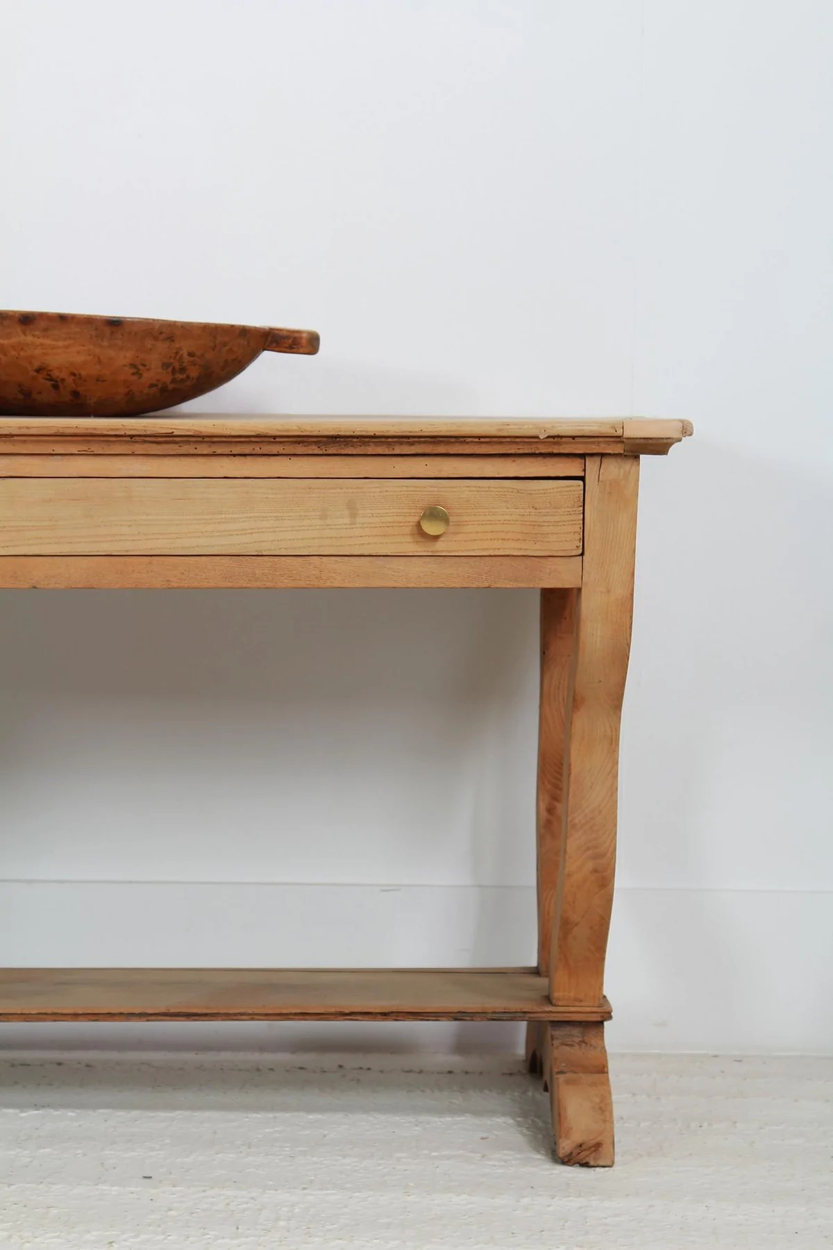 Antique French Bleached Oak Serving Console Table Anton And K