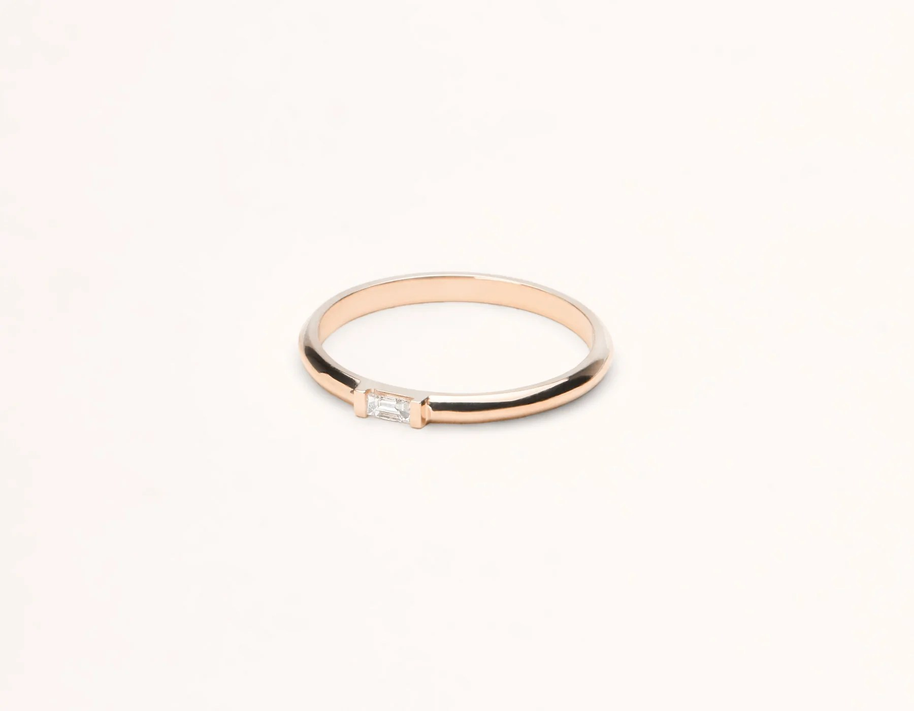 Baguette Diamond Ring 14k Solid Gold Vrai Amp Oro
