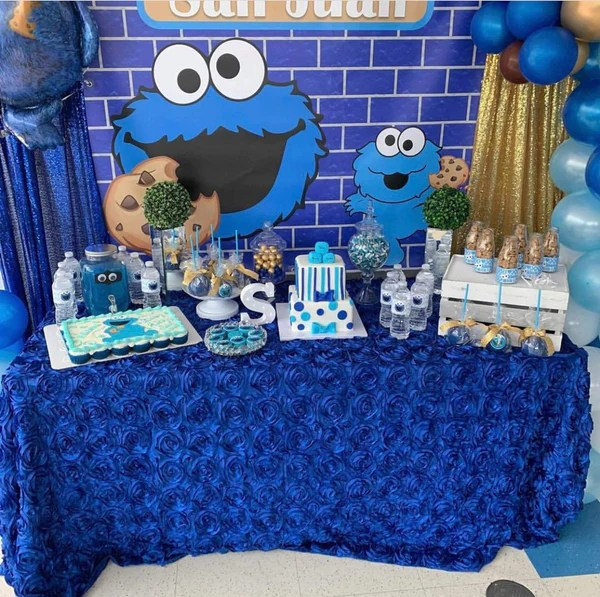 Cookie Monster Birthday Party Backdrop Personalized Step Repeat De Banners By Roz