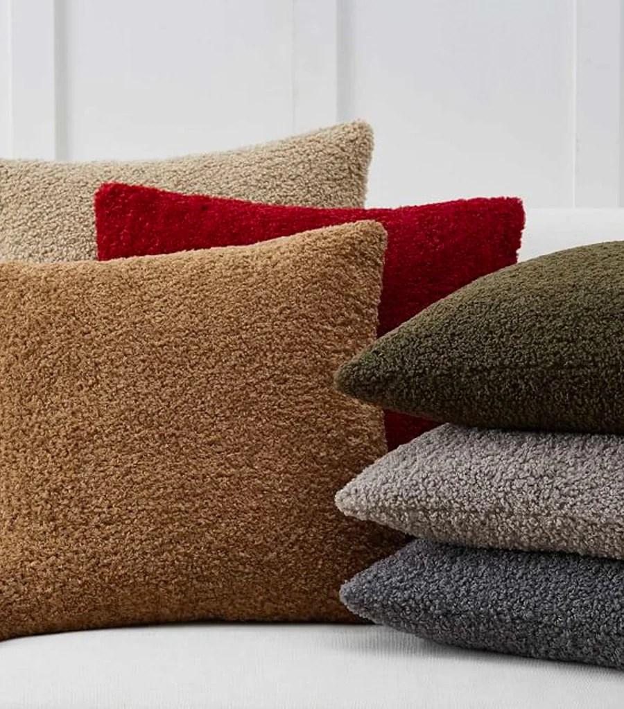 cozy teddy faux fur pillow cover