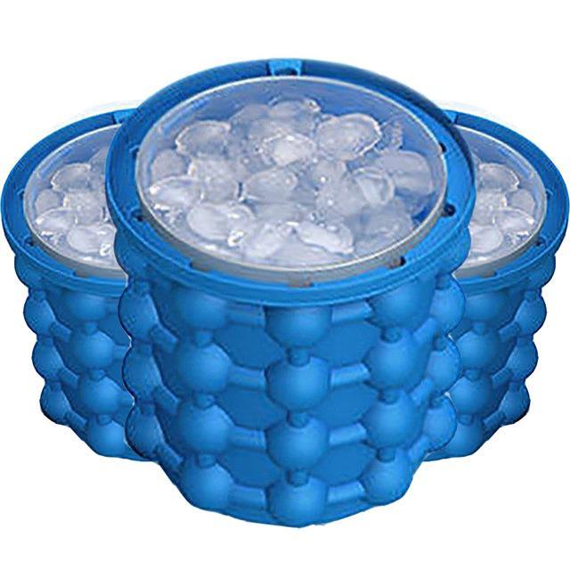 grand bac a glacon en silicone avec couvercle 120 cubes de glacon