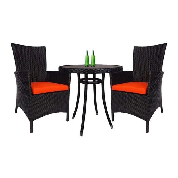 santa patio set orange cushion