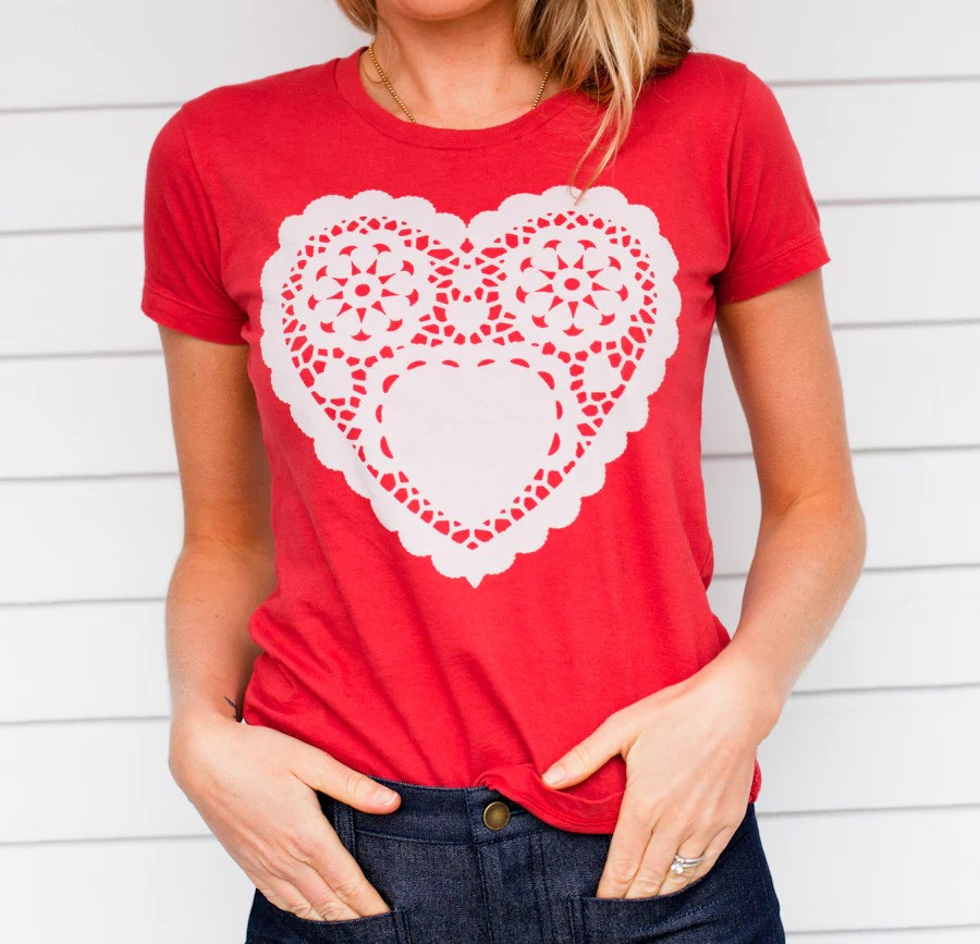 EM Signature T's - Paper Valentine Heart