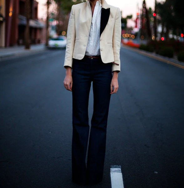 Black and Cream Tuxedo Jacket