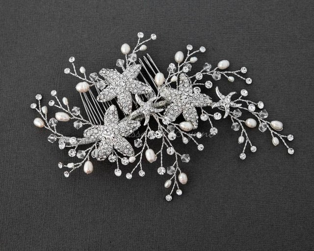 pearl wedding combs   bridal combs with pearls - cassandra lynne